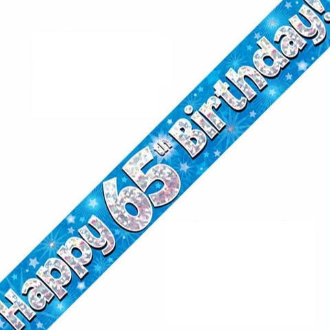 FOIL BANNER 65TH BIRTHDAY