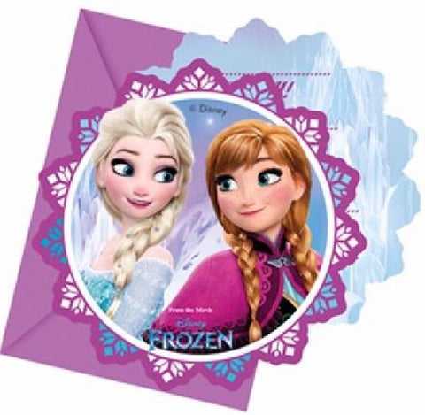 6PK FROZEN INVITATIONS