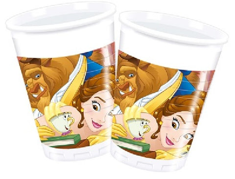 8PK 200ML BEAUTY AND THE BEAST CUPS