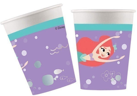 8PK 200ML ARIEL UNDER THE SEA CUPS