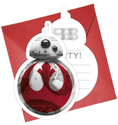 6PK STAR WARS THE LAST JEDI INVITATIONS