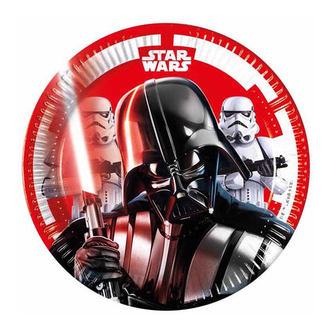8PK 20CM STAR WARS FINAL BATTLE PLATES