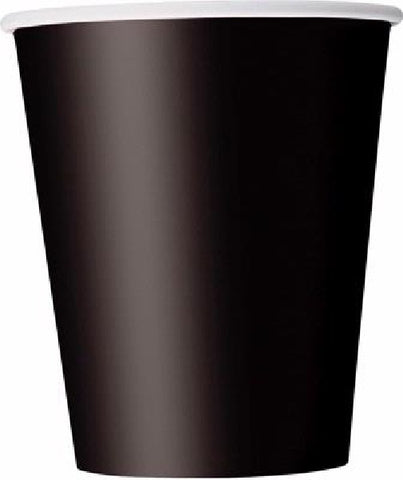14PK 9OZ BLACK CUPS