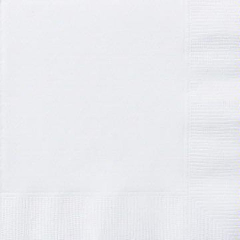 50PK 33CM BRIGHT WHITE NAPKINS