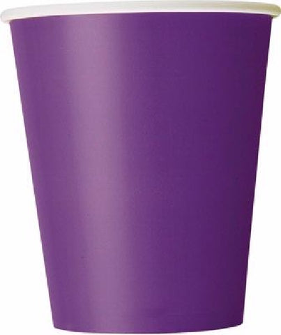 14PK 9OZ DEEP PURPLE CUPS
