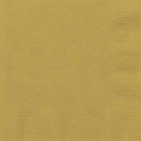 50PK 33CM GOLD LUNCHEON NAPKINS