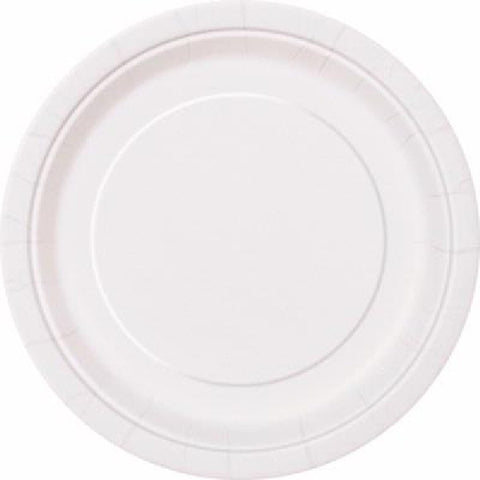 16PK 9IN BRIGHT WHITE PLATES