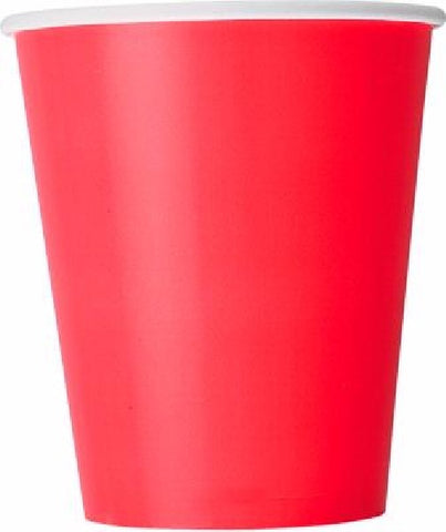 14PK 9OZ RUBY RED CUPS
