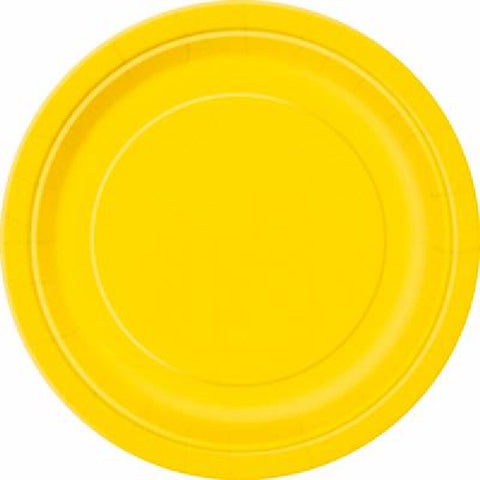 16PK 9IN YELLOW PLATES