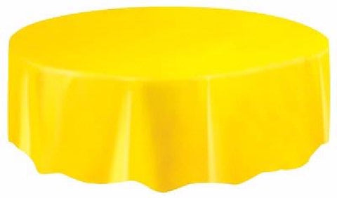 YELLOW ROUND TABLECOVER