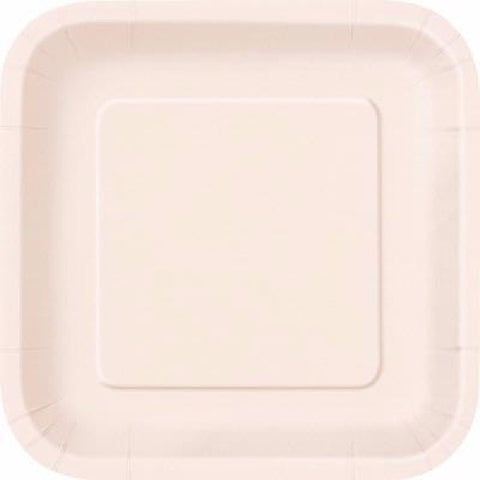 14PK 9IN IVORY SQUARE PLATES