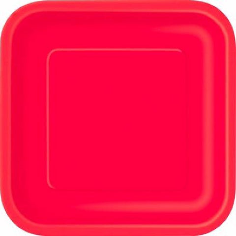 14PK RUBY RED 9IN SQUARE PLATES