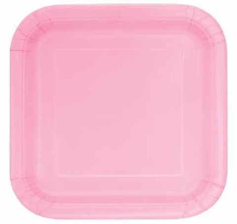 14PK 9IN LOVELY PINK SQUARE PLATES