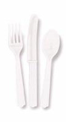 18PK ASST BRIGHT WHITE CUTLERY