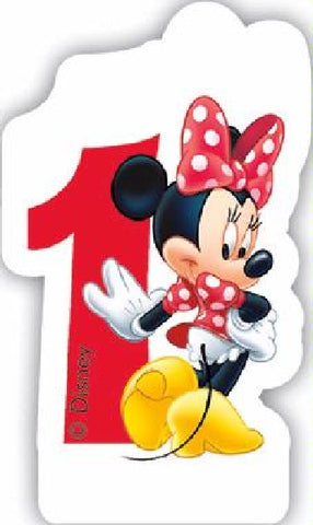 NO 1 MINNIE CAFE BIRTHDAY CANDLE