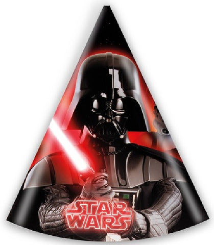 6PK STAR WARS PARTY HATS