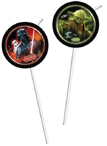 6PK STAR WARS DRINKING STRAWS