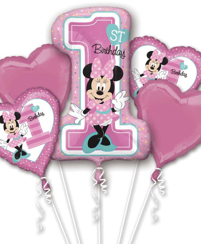 Minnie Mouse 1st Birthday Foil Bouquet