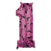 26IN MINNIE MOUSE FOREVER NO.1 FOIL BALLOON