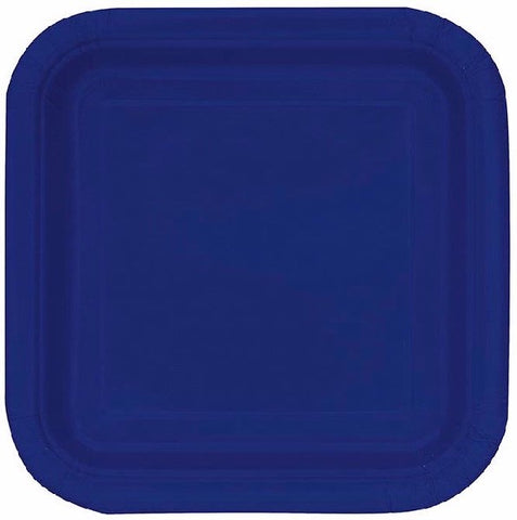 14PK 9IN NAVY BLUE SQUARE PLATES