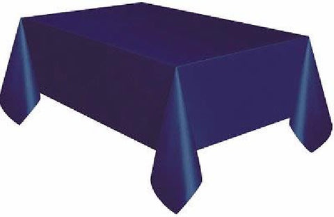 NAVY BLUE OBLONG PLASTIC TABLECOVER