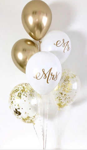 Mr & Mrs Confetti Bouquet - Code 00114