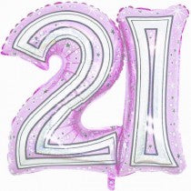 28IN 21ST PINK FOIL BALLOON - Code 306