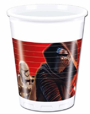 8PK 200ML STAR WARS VII CUPS