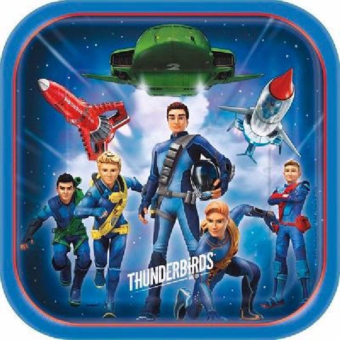 8PK 9IN THUNDERBIRDS SQ PLATES
