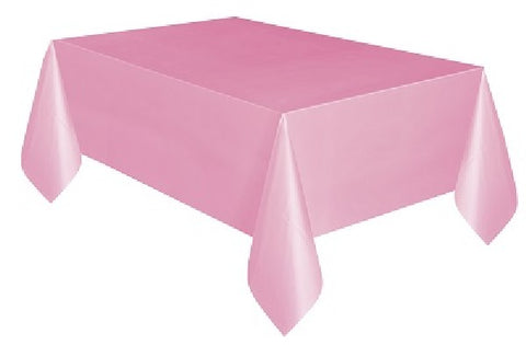 LOVELY PINK PLASTIC TABLECOVER