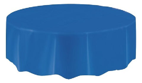 ROYAL BLUE ROUND TABLECOVER