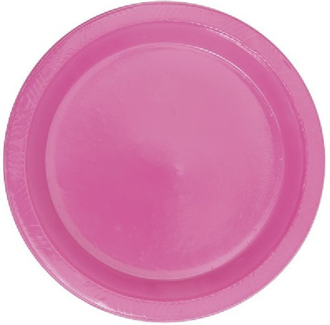 8PK 10IN HOT PINK PLASTIC PLATES