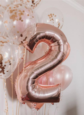 Giant Number Latex & Confetti Balloon Display - Code 491