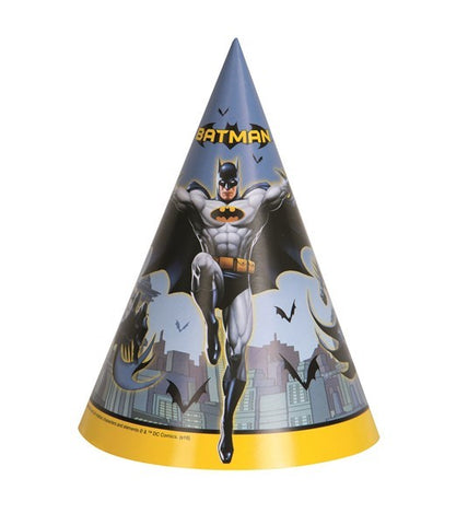 8PK BATMAN PARTY HATS
