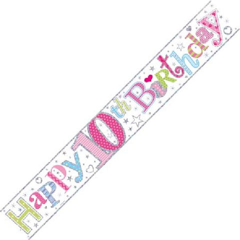 BANNER FOIL 10TH BIRTHDAY