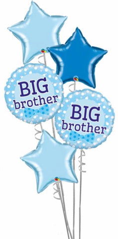 5 Foil Big Brother Balloon Bouquet - Code 447