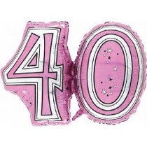 28IN 40TH PINK FOIL BALLOON - Code 00300
