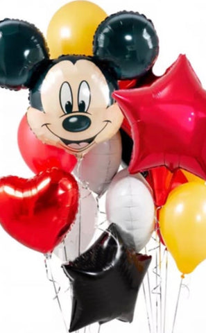 Luxury Mickey Mixed Foil/Latex Bouquet - Code 456