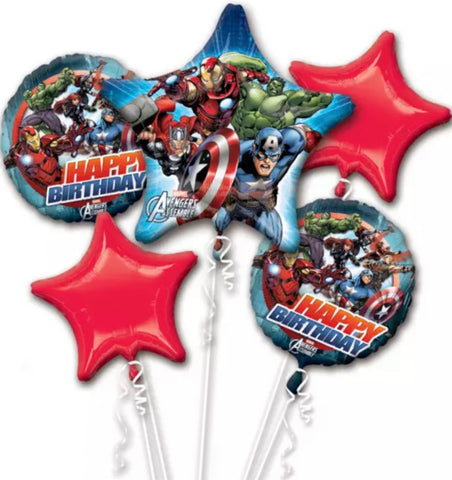 Avengers 5 Foil Birthday Bouquet - Code 430