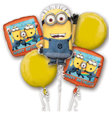 Minion 5 Foil Balloon Bouquet - Code 00383