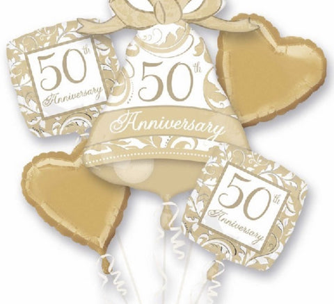 50th Wedding Anniversary Bouquet - Code 00109