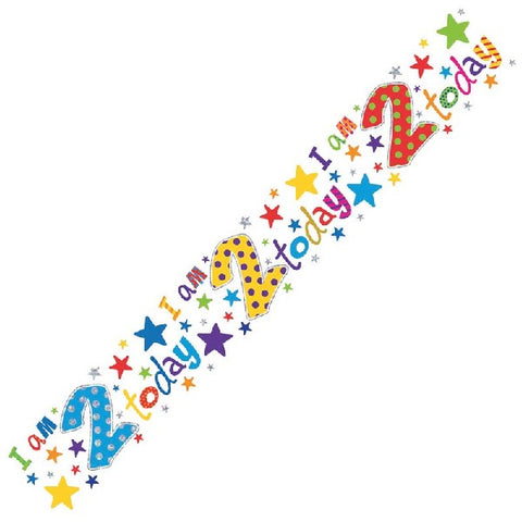 BANNER FOIL 2ND BIRTHDAY