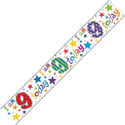 BANNER FOIL 9TH BIRTHDAY