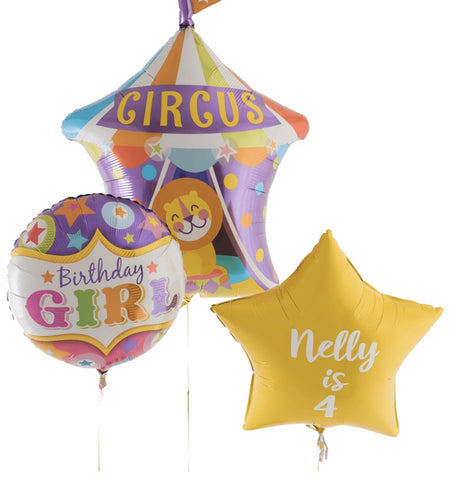 Circus Birthday Girl Personalised Bouquet - Code 00224