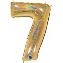40IN NO. 7 GLITTER HOLOGRAPHIC GOLD