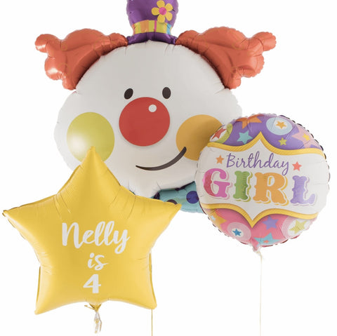 Clown Birthday Girl Personalised Bouquet - Code 00222