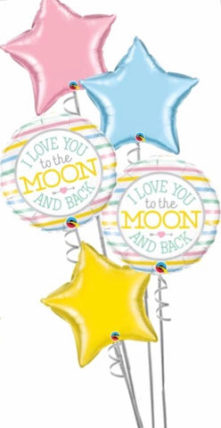 Moon & Back 5 Foil Balloon Bouquet - Code 443