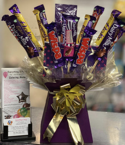 CHOCOLATE BOUQUET AND MILK TRAY