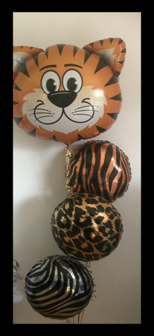 Tiger animal print foil bouquet