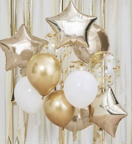 Giant Foil and Latex/Confetti Balloon Display - Code 484